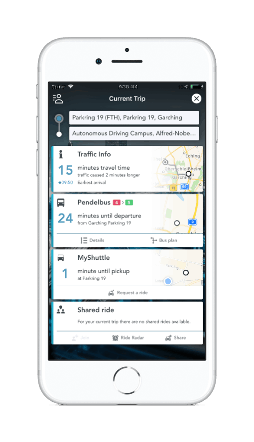 UrbyCampus real-time traffic information